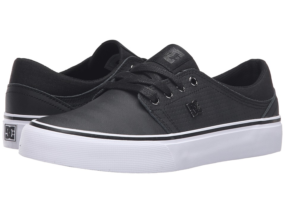DC - Trase LE (Black/Black/White) Women's Skate Shoes
