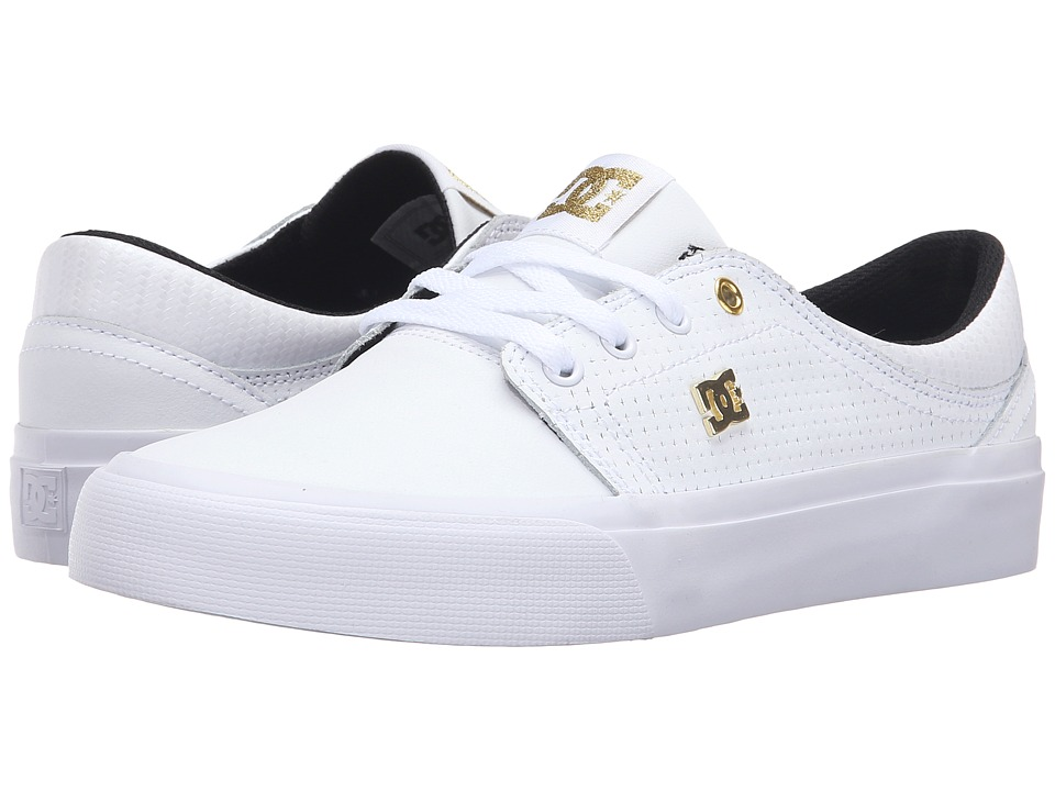 DC - Trase LE (White/Gold) Women's Skate Shoes
