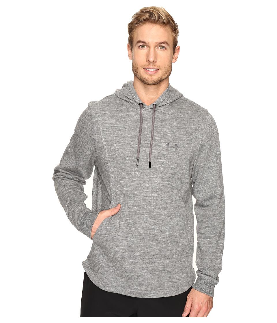 Under Armour - UA Baseline Fleece Pullover Hoodie (Black/Black) Men's Sweatshirt
