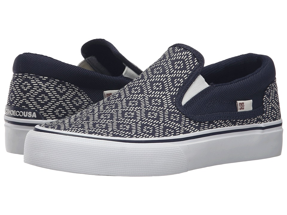 DC - Trase Slip-On SP (Navy) Women's Skate Shoes