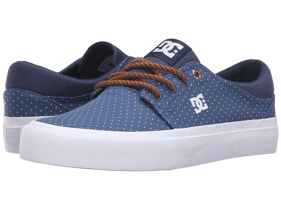 DC - Trase TX SE (Blue/Brown/White) Women's Skate Shoes