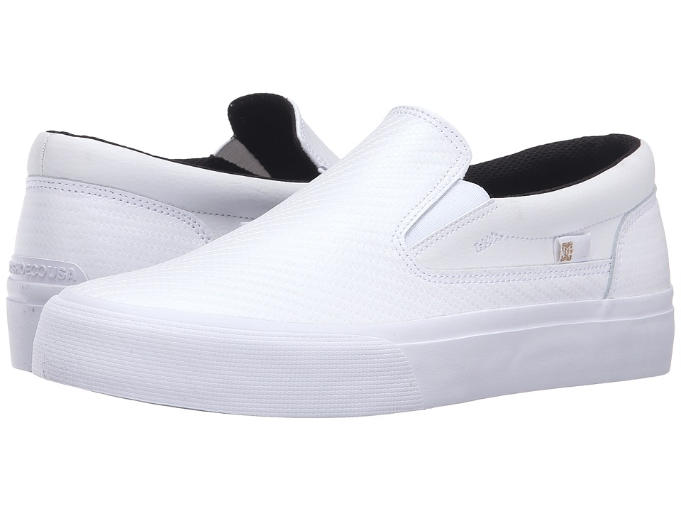 DC - Trase Slip-On LE (White/Gold) Women's Skate Shoes