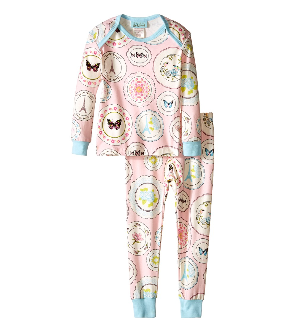 BedHead Kids - L/S Tee Pant (Infant) (Pink Plat Du Jour) Girl's Pajama Sets