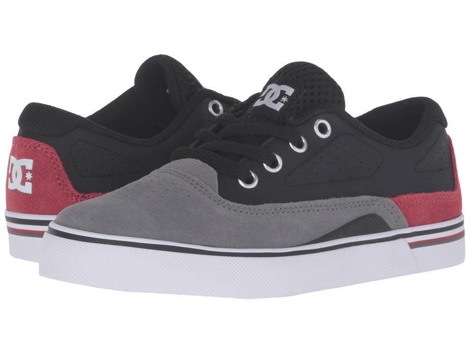 DC Kids - Sultan (Little Kid) (Grey/Black/Red) Boys Shoes