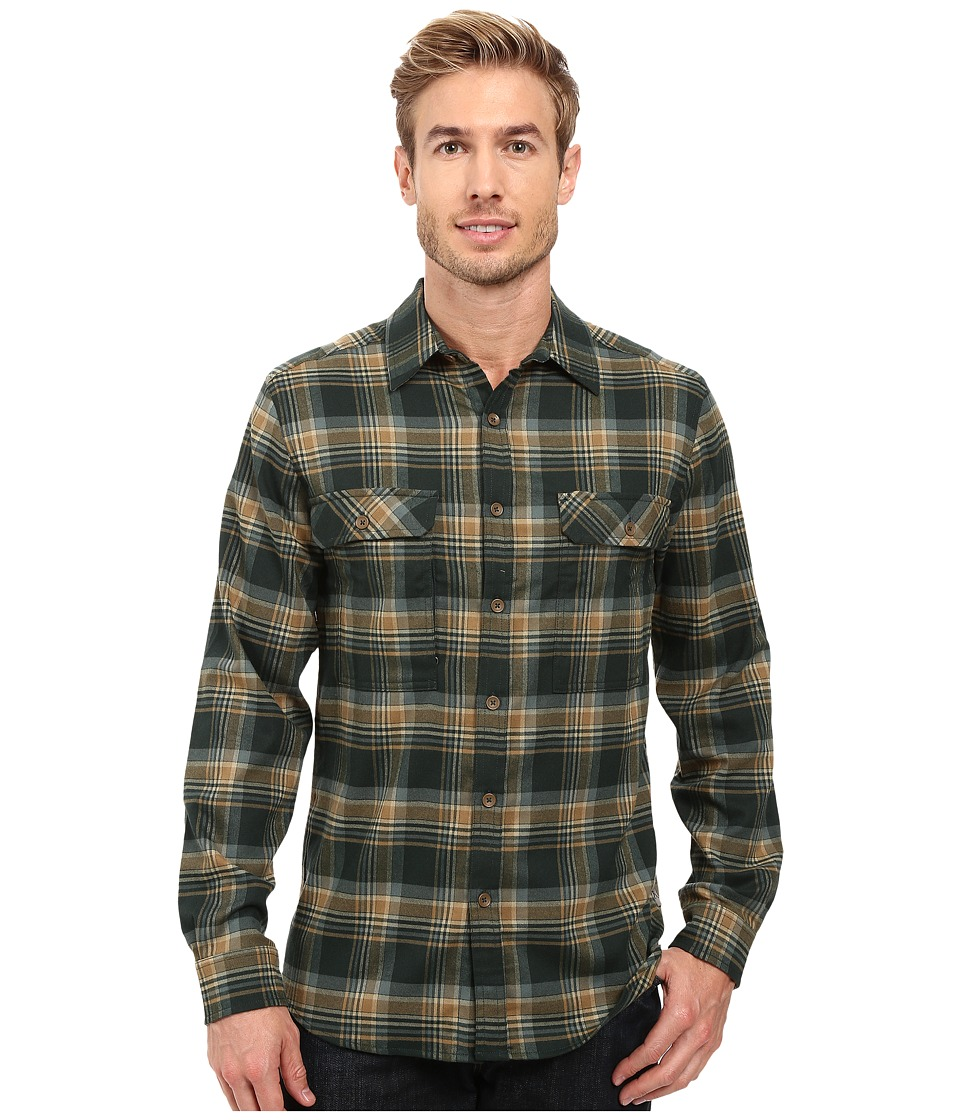 Royal Robbins - Valley Performance Long Sleeve Plaid Shirt (Dark Spruce) Men's Long Sleeve Button Up