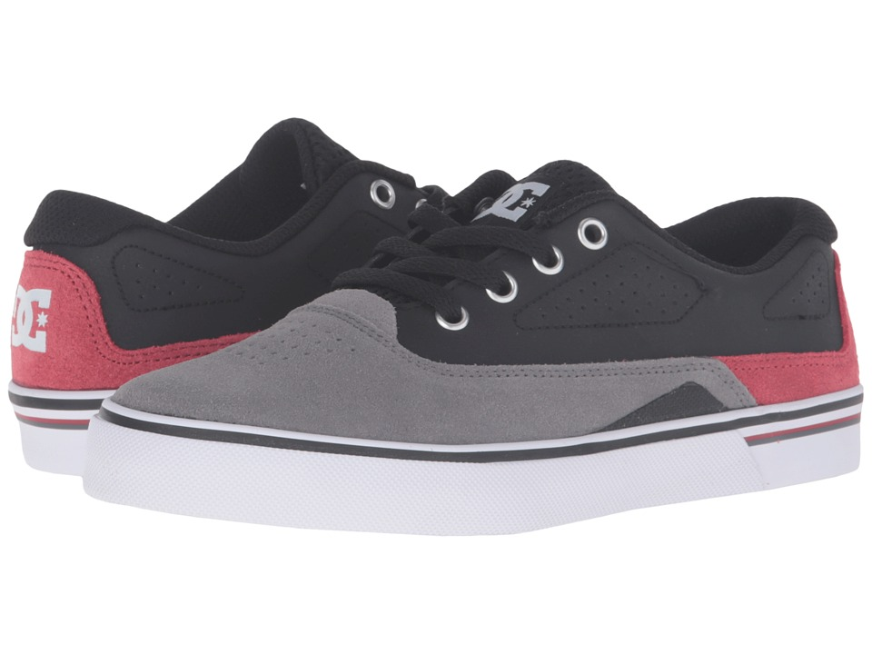 DC Kids - Sultan (Big Kid) (Grey/Black/Red) Boys Shoes
