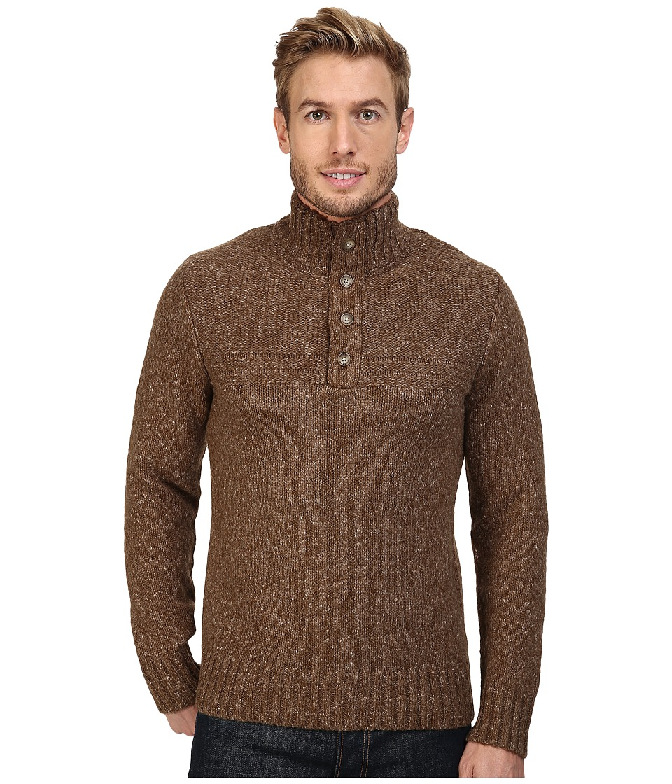 Royal Robbins - Sequoia Button Mock Sweater (Earth) Men's Sweater
