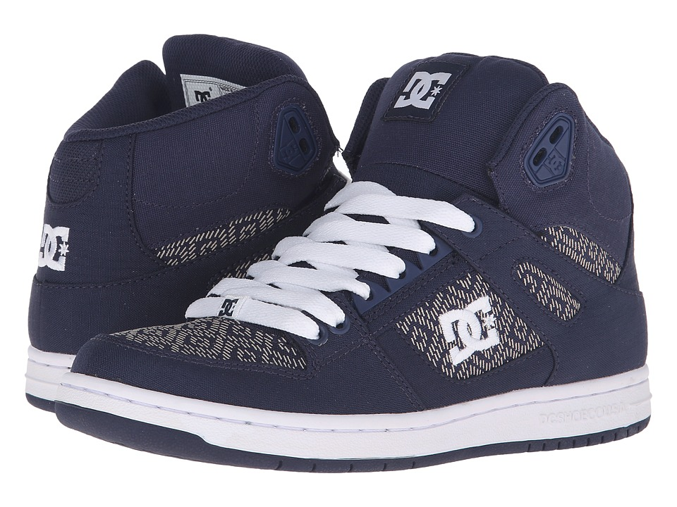 DC - Rebound High TX SE (Navy) Women's Skate Shoes