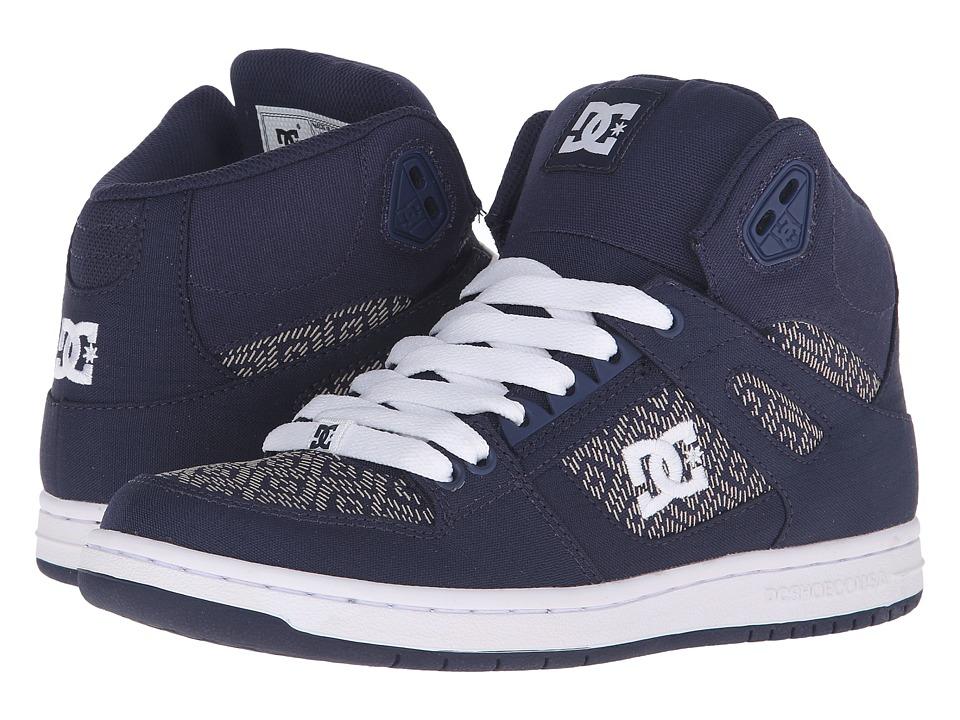 DC - Rebound High TX SE (Navy) Women's Skate Shoes
