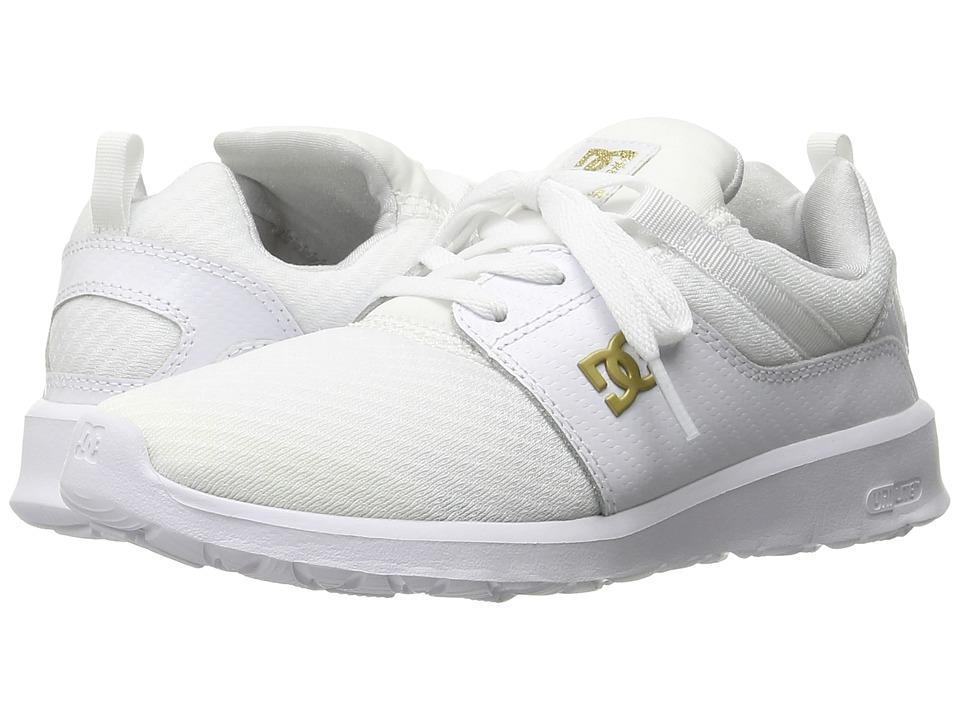 DC - Heathrow SE (White/Gold) Women's Skate Shoes