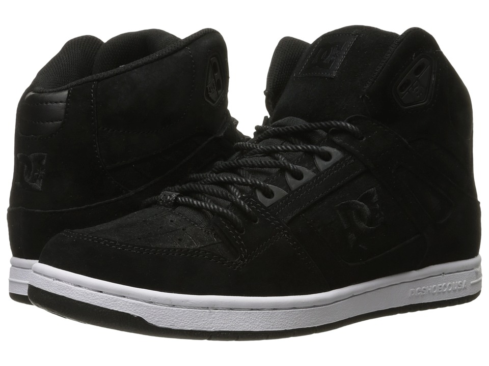 DC - Rebound High XE (Black Smooth) Women's Skate Shoes