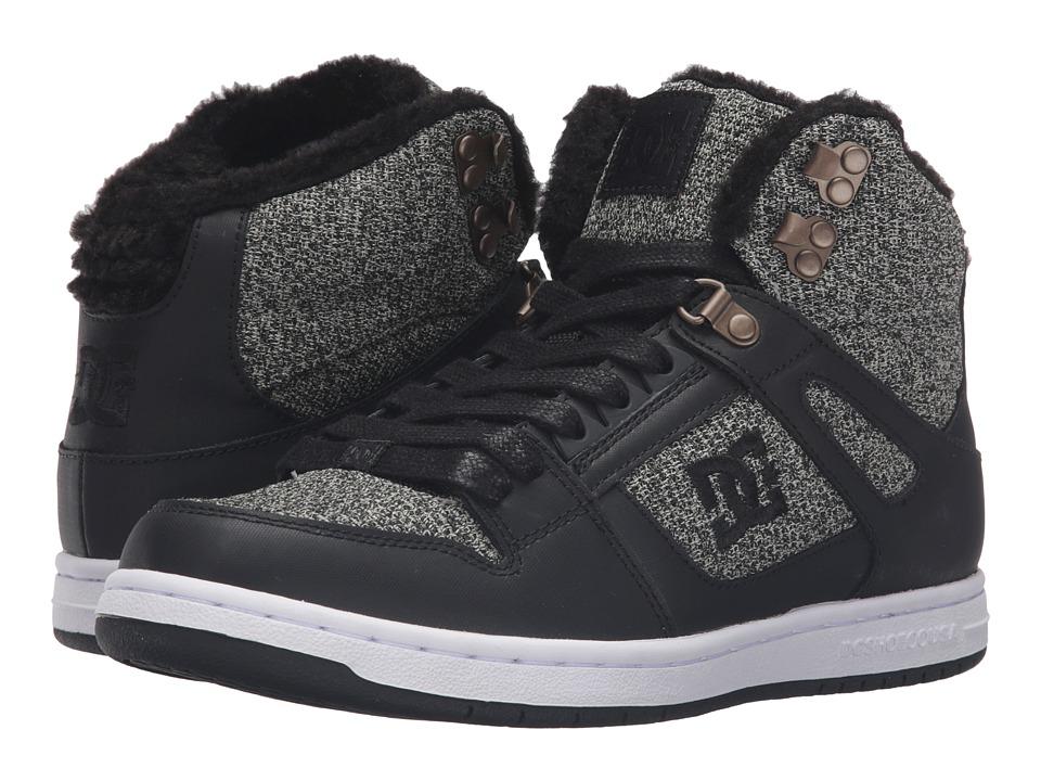 DC - Rebound High WNT (Black Dark Used) Women's Skate Shoes