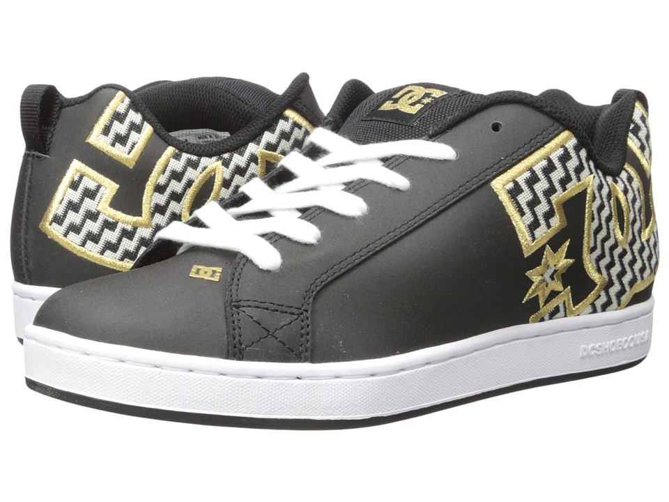 DC - Court Graffik SE W (Black/Gold) Women's Skate Shoes