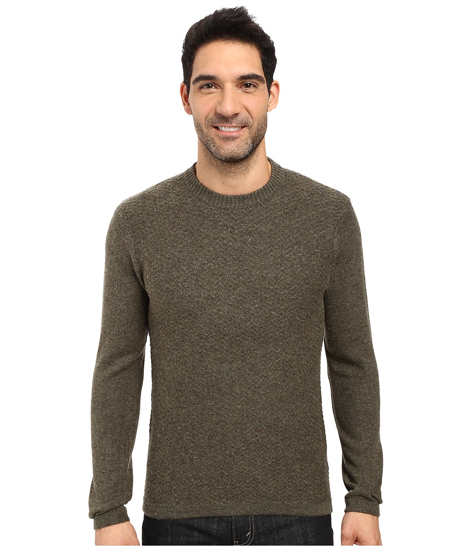 Royal Robbins - Fireside Wool Crew Sweater (Dark Olive) Men's Sweater