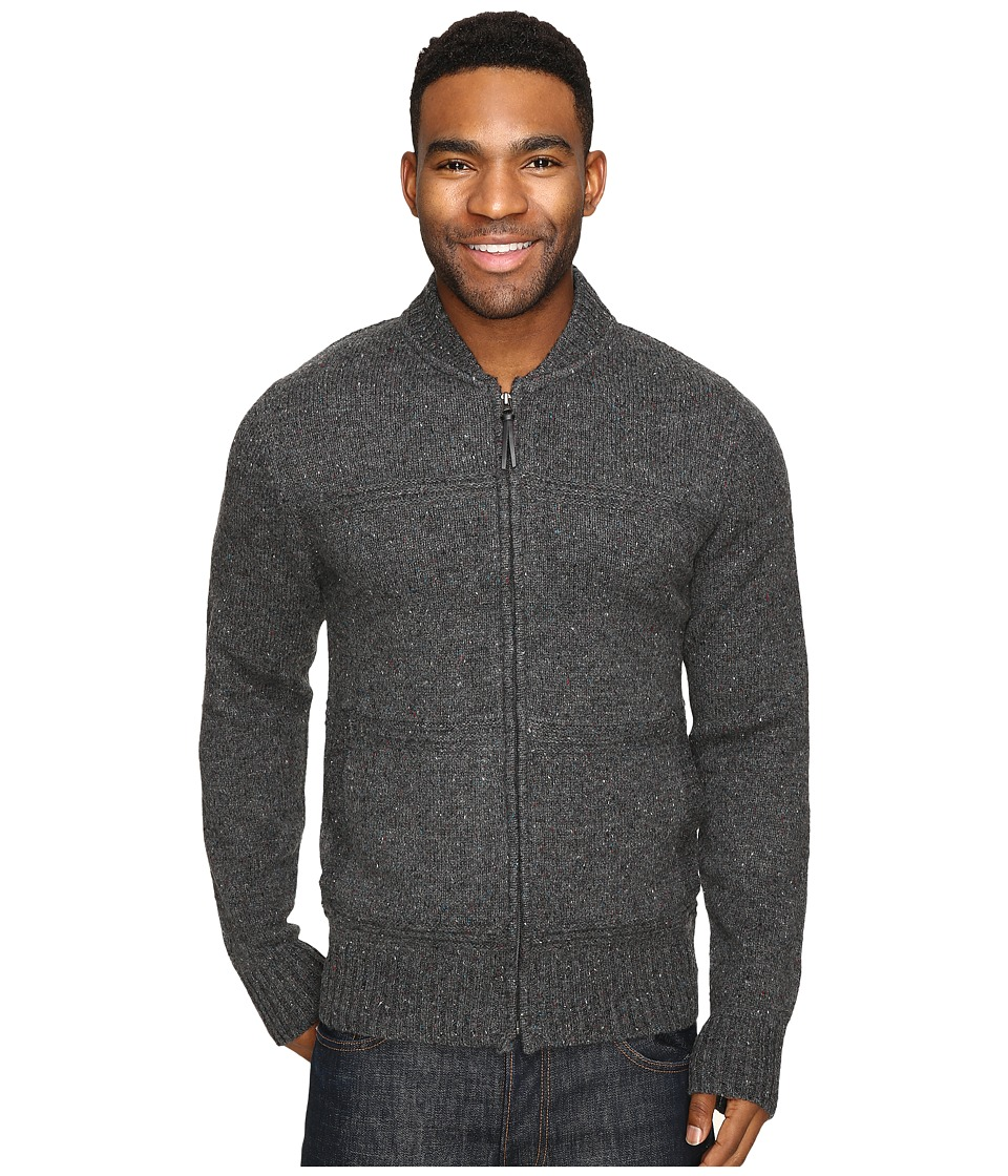 Royal Robbins - First Fleet Merino Full Zip Sweater (Charcoal) Men's Sweater