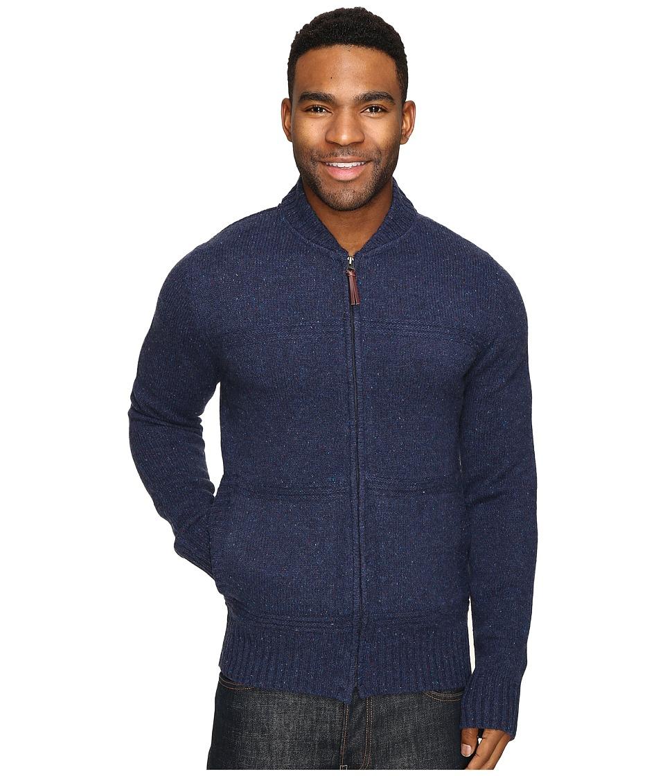 Royal Robbins - First Fleet Merino Full Zip Sweater (Navy) Men's Sweater