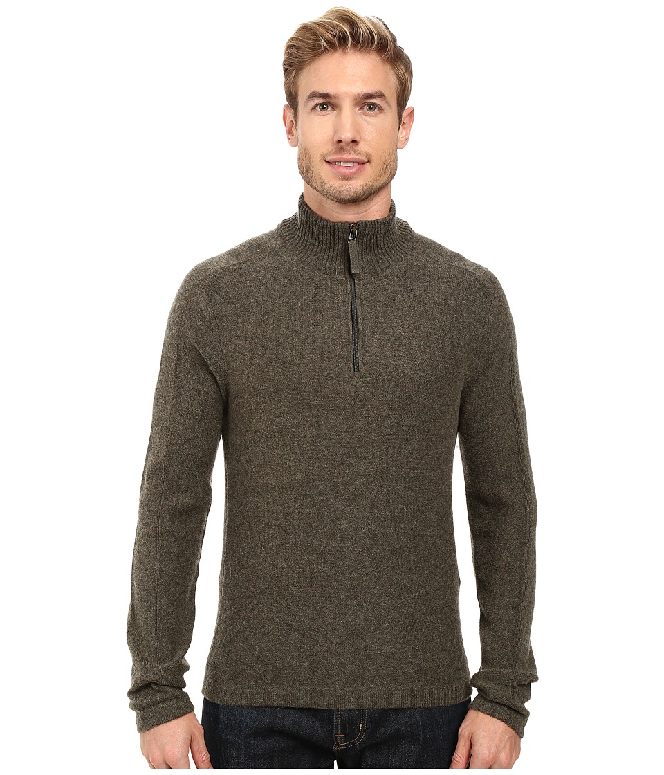 Royal Robbins - Fireside Wool 1/4 Zip Sweater (Dark Olive) Men's Sweater