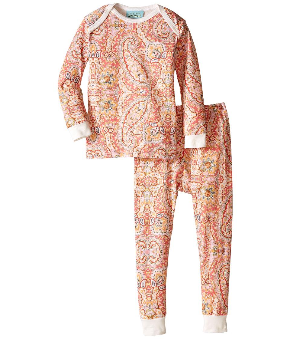 BedHead Kids - L/S Tee Pant (Infant) (Coral Boho Paisley) Girl's Pajama Sets