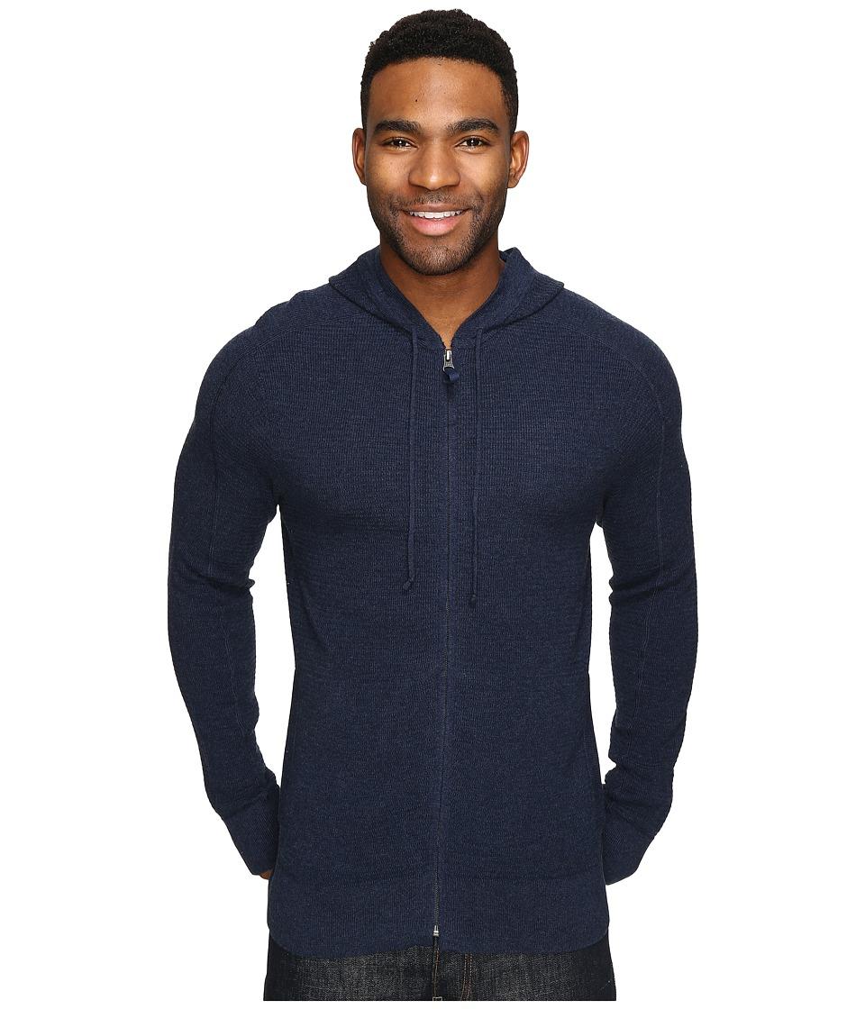 Royal Robbins - All Season Merino Thermal Full Zip Hoodie (Navy) Men's Sweatshirt