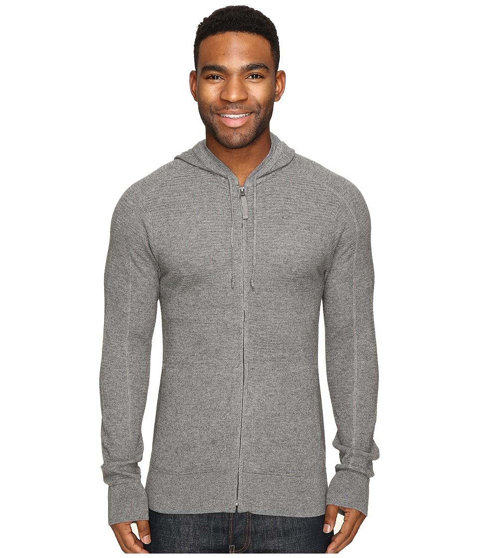 Royal Robbins All Season Merino Thermal Full Zip Hoodie (Pewter) Men