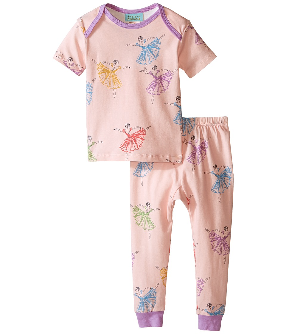 BedHead Kids - Short Sleeve Tee Pant Set (Infant) (Prima Ballerina) Girl's Pajama Sets