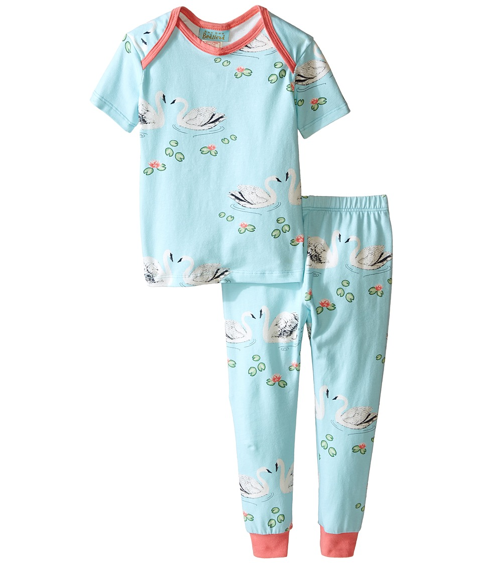 BedHead Kids - Short Sleeve Tee Pant Set (Infant) (Swan Lake) Girl's Pajama Sets