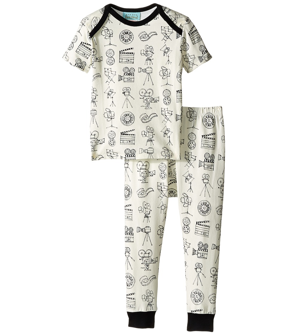 BedHead Kids - Short Sleeve Tee Pant Set (Infant) (Lights! Camera! Action!) Boy's Pajama Sets