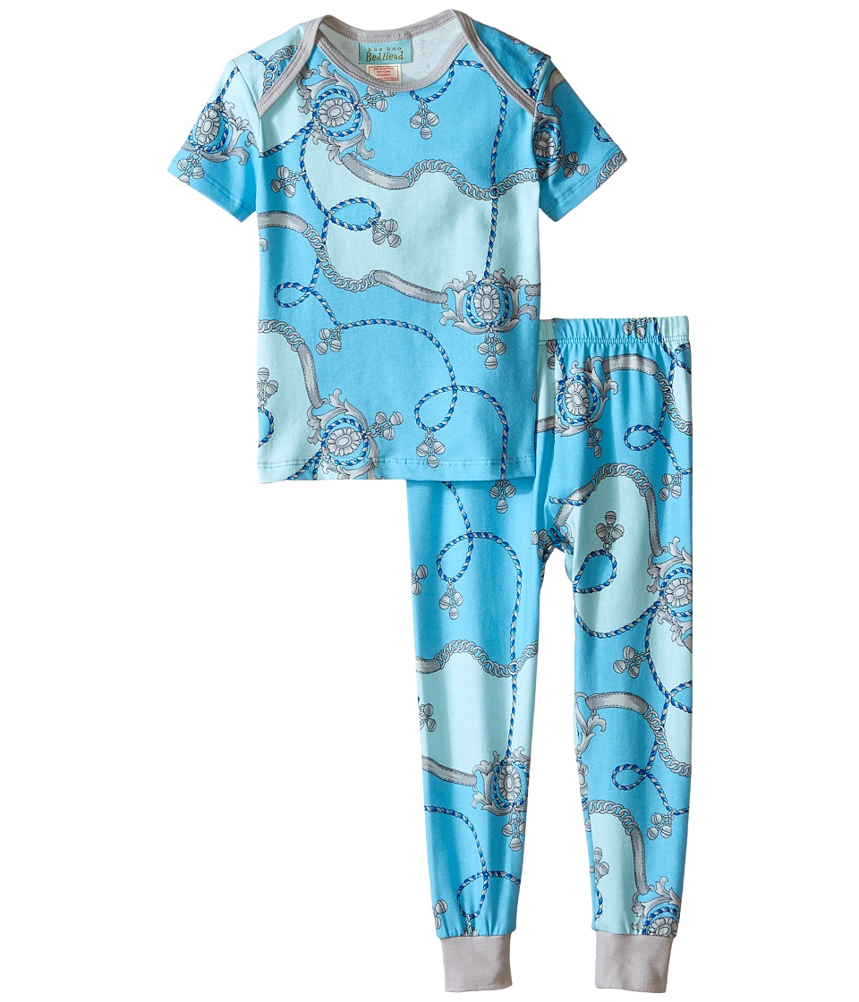 BedHead Kids - Short Sleeve Tee Pant Set (Infant) (Blue Viceroy) Boy's Pajama Sets