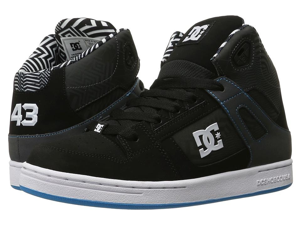 DC Kids - Rebound KB (Big Kid) (Black/White/Blue) Boys Shoes