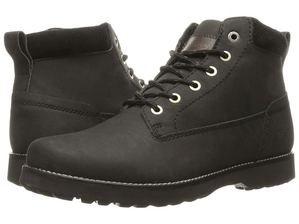 Quiksilver - Mission II (Solid Black) Men's Lace-up Boots
