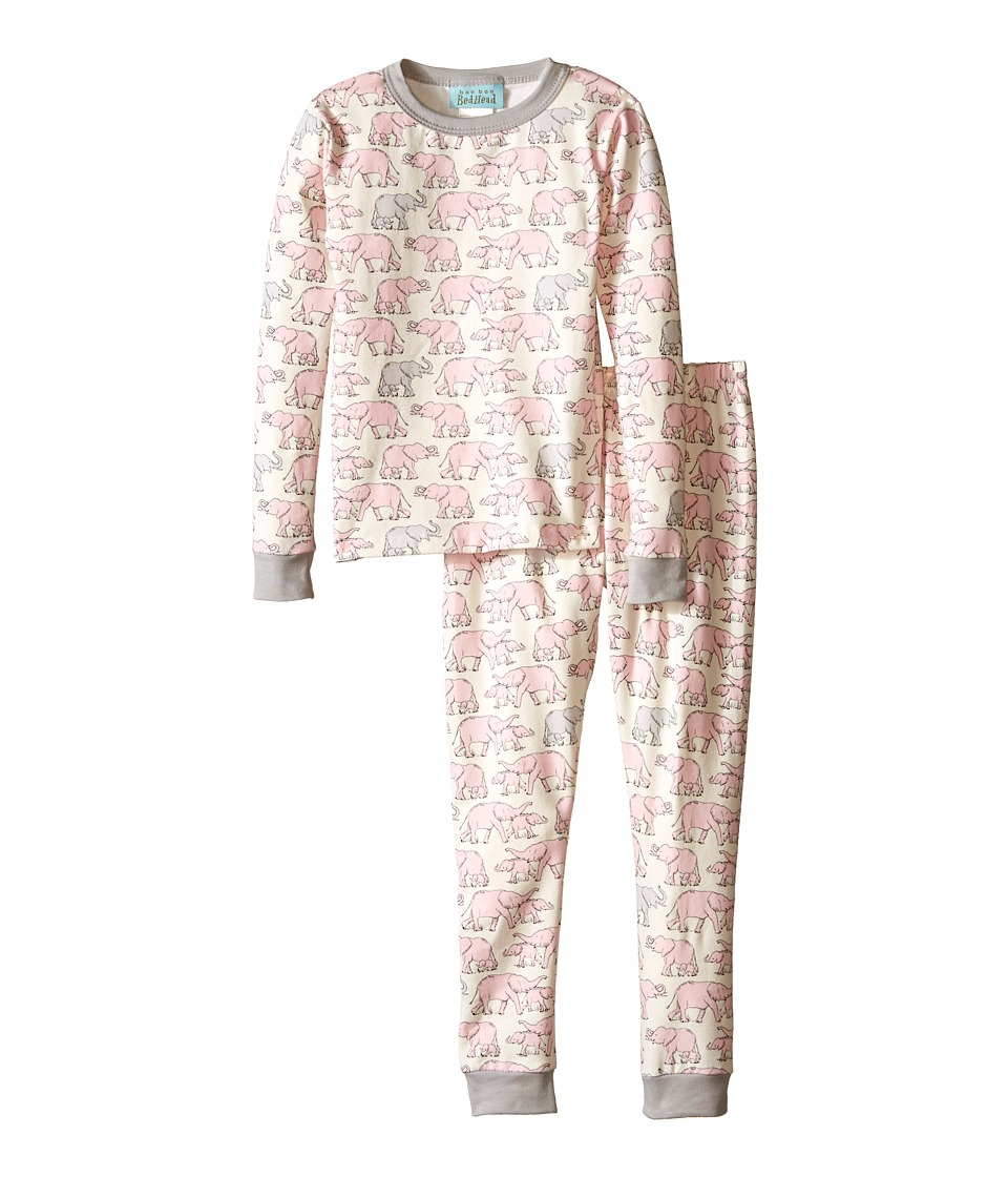 BedHead Kids - Snug Fit L/S Classic PJ (Toddler/Little Kids) (Pink Elephants) Girl's Pajama Sets