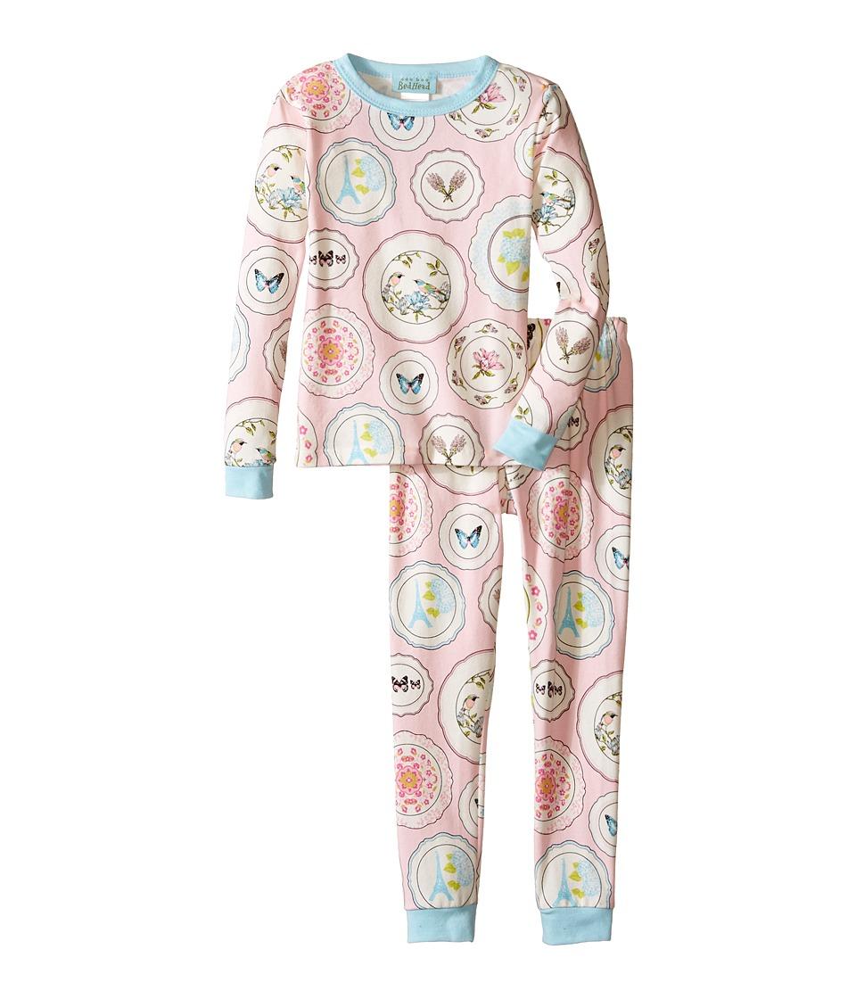 BedHead Kids - Snug Fit L/S Classic PJ (Toddler/Little Kids) (Pink Plat Du Jour) Girl's Pajama Sets