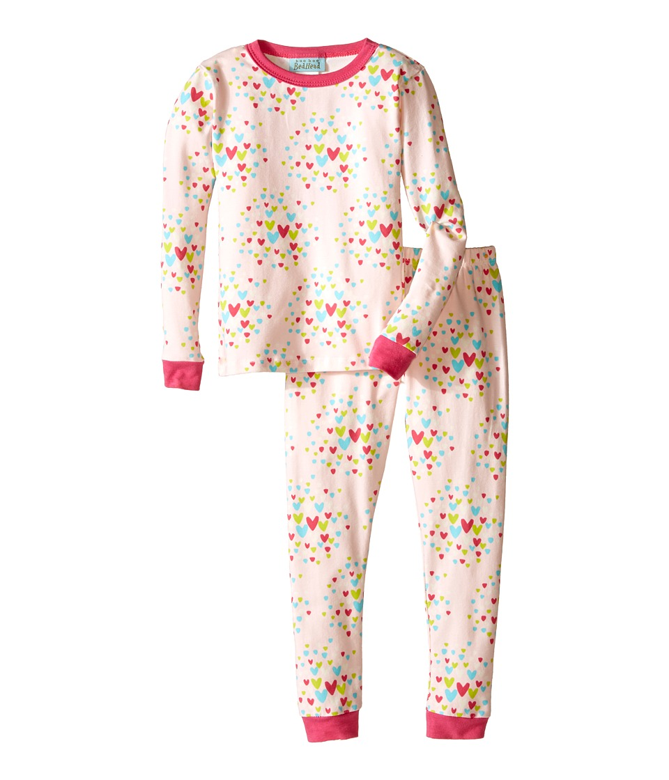 BedHead Kids - Snug Fit L/S Classic PJ (Toddler/Little Kids) (Confetti Hearts) Girl's Pajama Sets
