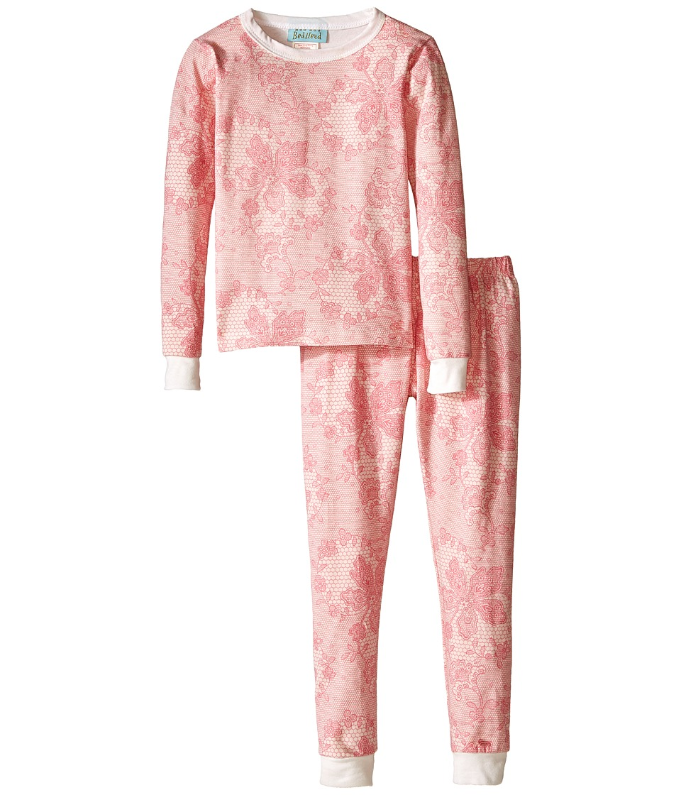 BedHead Kids - Snug Fit L/S Classic PJ (Toddler/Little Kids) (Coral Chantilly Lace) Girl's Pajama Sets