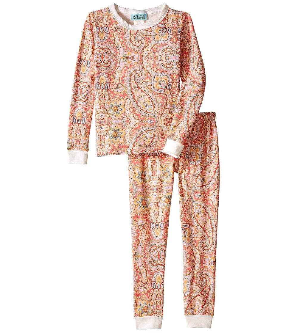 BedHead Kids - Snug Fit L/S Classic PJ (Toddler/Little Kids) (Coral Boho Paisley) Girl's Pajama Sets