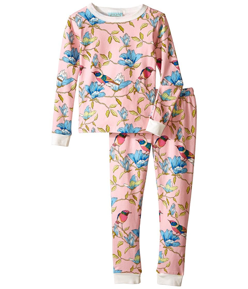 BedHead Kids - Snug Fit L/S Classic PJ (Toddler/Little Kids) (Pink Botanical Birds) Girl's Pajama Sets