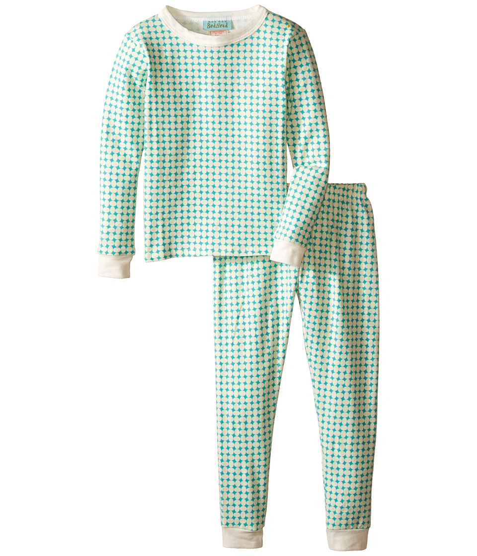 BedHead Kids - Snug Fit L/S Classic PJ (Toddler/Little Kids) (Turquoise Pearls) Girl's Pajama Sets