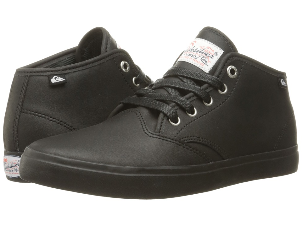 Quiksilver - Shorebreak Deluxe Mid (Solid Black) Men's Lace up casual Shoes
