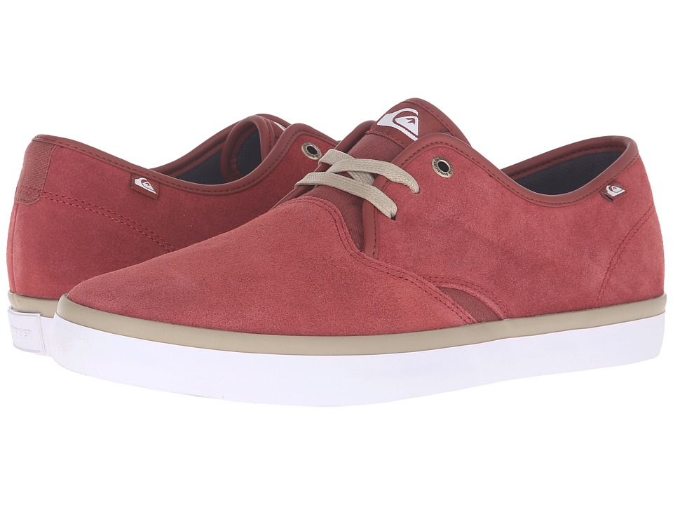 Quiksilver - Shorebreak Suede (Red/Red/White) Men's Lace up casual Shoes