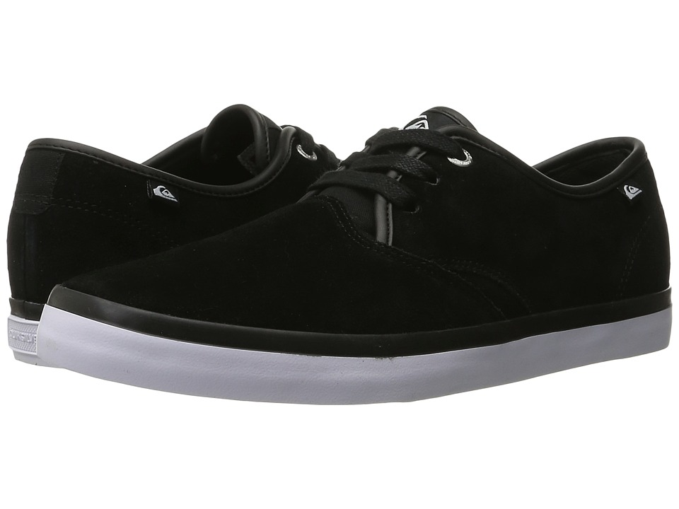 Quiksilver - Shorebreak Suede (White/Black/White) Men's Lace up casual Shoes