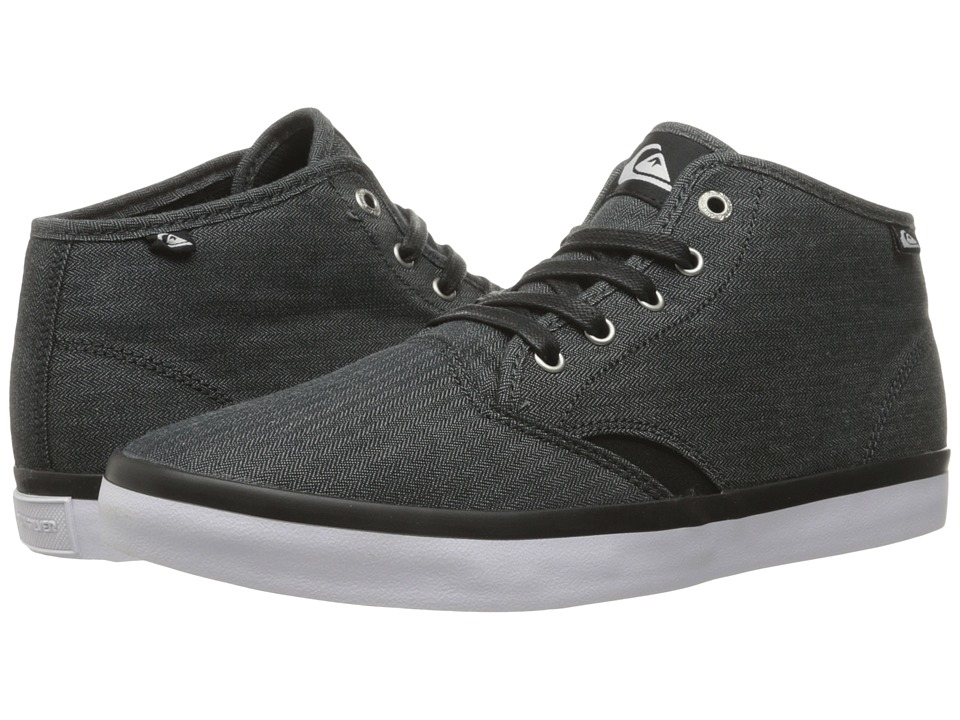 Quiksilver - Shorebreak Mid (Black/Black/White) Men's Lace up casual Shoes