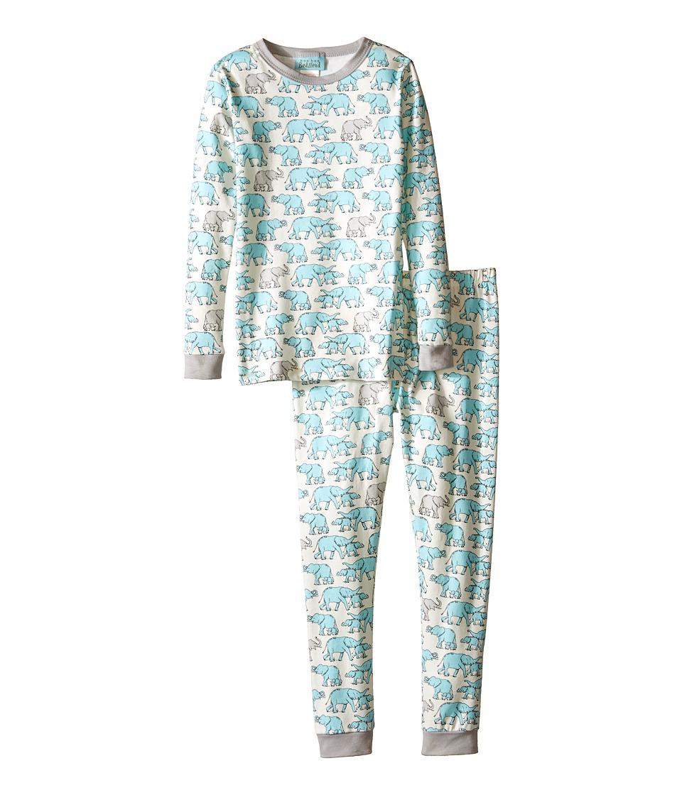 BedHead Kids - Long Sleeve Two-Piece PJ (Toddler/Little Kids) (Blue Elephants) Boy's Pajama Sets