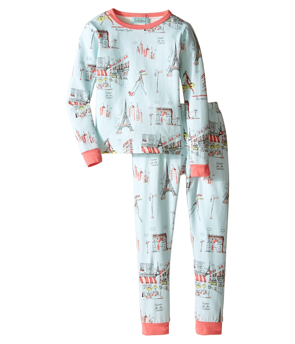 BedHead Kids - Long Sleeve Two-Piece PJ (Toddler/Little Kids) (Blue Cafe Du Paris) Boy's Pajama Sets
