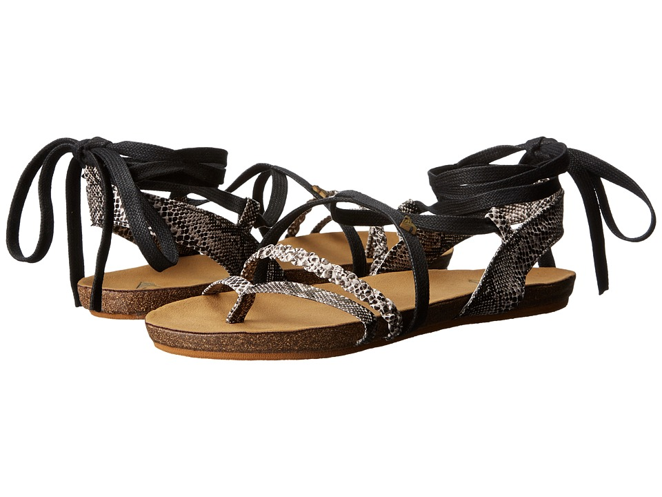Roxy - Kirby (Black/White) Women's Sandals