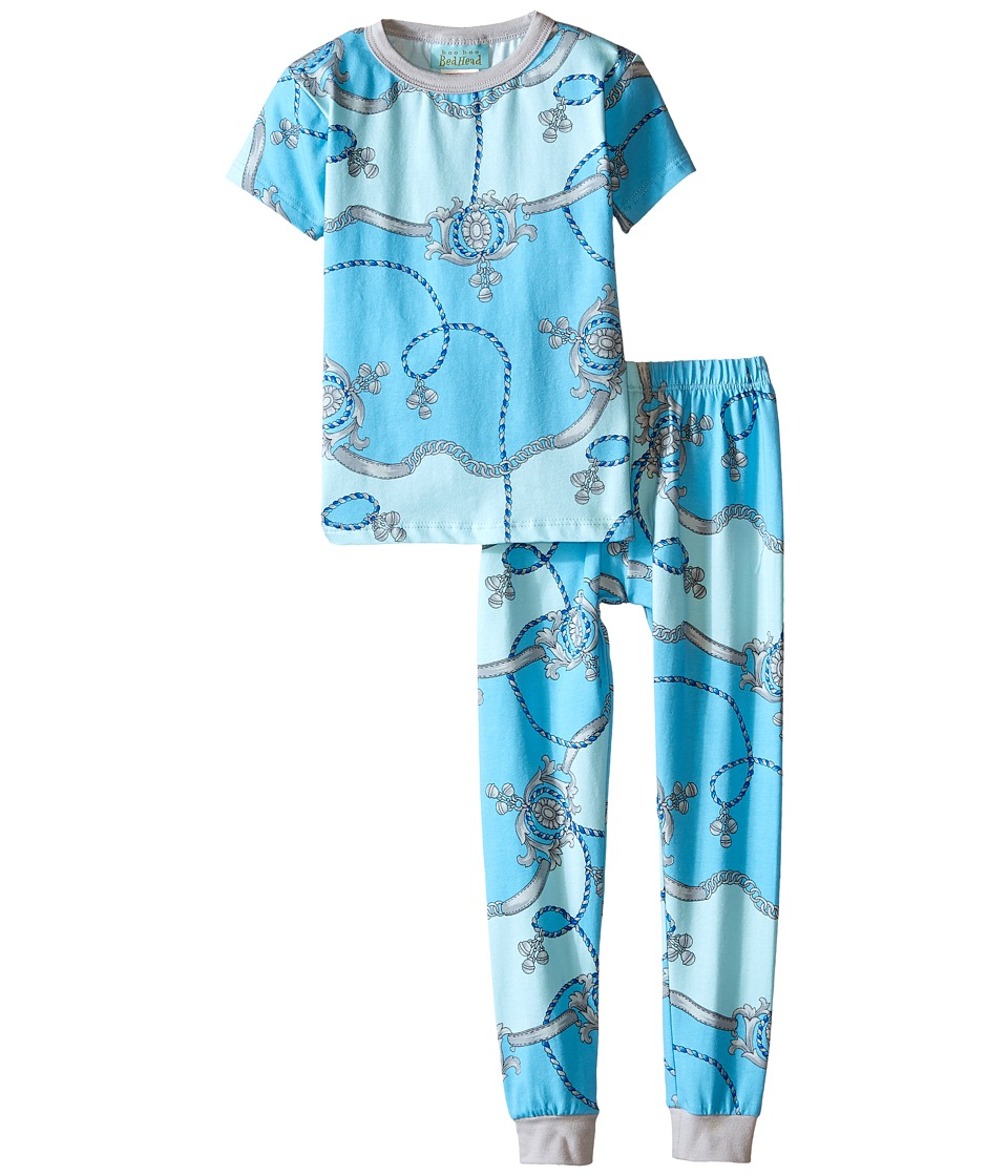 BedHead Kids - Short Sleeve Kids Snug PJ (Toddler/Little Kids) (Blue Viceroy) Boy's Pajama Sets