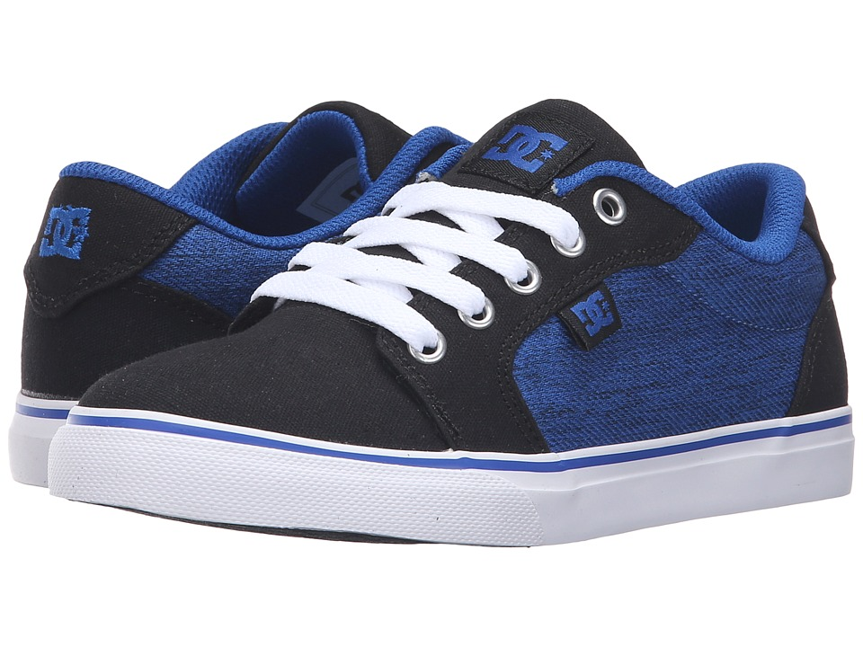 DC Kids - Anvil TX SE (Little Kid) (Black/Blue/White) Boys Shoes