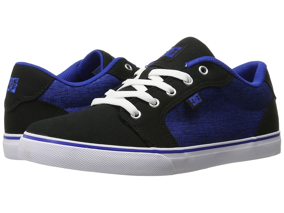 DC Kids - Anvil TX SE (Big Kid) (Black/Blue/White) Boys Shoes