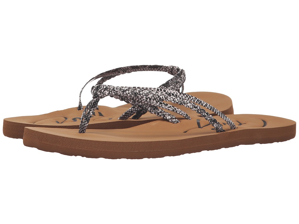 Roxy - Cabo (Black/White) Women's Sandals