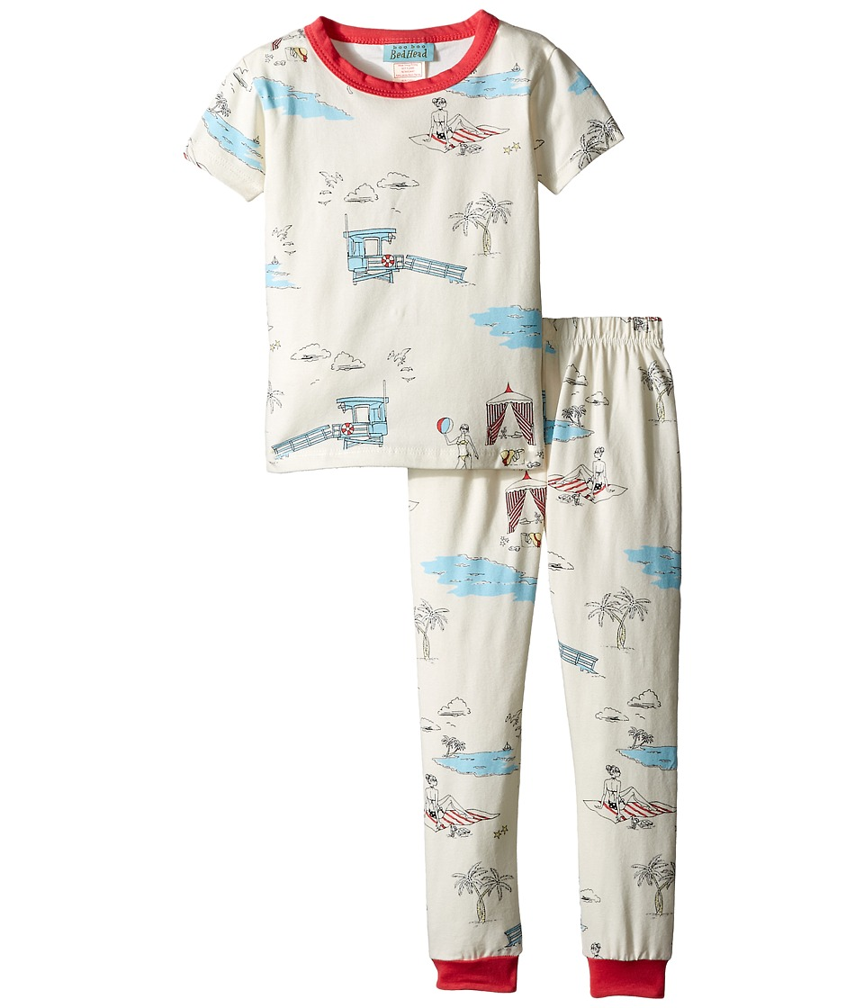 BedHead Kids - Short Sleeve Snug PJ (Toddler/Little Kids) (Girl On The Beach) Girl's Pajama Sets