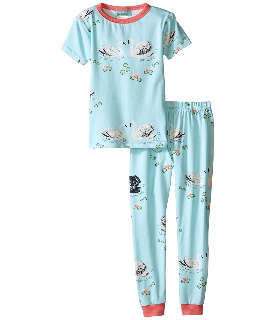 BedHead Kids - Short Sleeve Snug PJ (Toddler/Little Kids) (Swan Lake) Girl's Pajama Sets